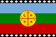 The most common flag used by the Mapuche population of Chile, a banner known in their Mapudungan language as Wenufoye.