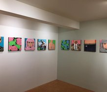 Installation of Mark Curtis' 'Hey Hey--New Works', at Freit Contemporary.