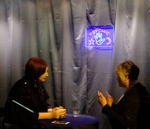 Live psychic reading at Ramp Gallery - during Ramp Festival, August 2019 [photographed by Geoff Ridder]