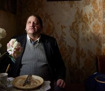 A still from Richard Billingham's Ray and Liz. The image shows Lol, played by Tony Way.,