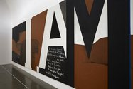 Colin McCahon, Gate III, 1970, acrylic on canvas, Victoria University Art Collection. Photo: Sam Hartnett. Courtesy of Colin McCahon Research and Publication Trust, and Te Uru Waitakere Art Gallery.