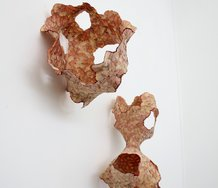 Ada Leung, Fungal Blooms (3), 2018. Pencil shavings and adhesive. Dimensions unavailable. Image courtesy of the artist