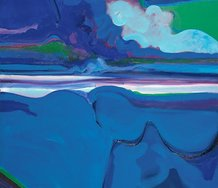 Quentin MacFarlane, Southerly Stormclouds, 1969, acrylic on canvas. Collection of Christchurch Art Gallery Te Puna o Waiwhetu, purchased 1969. Image courtesy of Quentin Macfarlane Estate