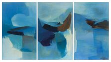 Louise Henderson, The Lakes (triptych), 1965, Auckland Art Gallery Toi o Tāmaki, purchased 1965