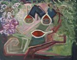Layla Rudneva-Mackay, Tamarillo Tart, 2017-19, oil on canvas, 410 x 510 mm