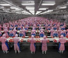 Edward Burtynsky, Manufacturing #17, Deda Chicken Processing Plant, Dehui City, Jilin Province, China, 2005