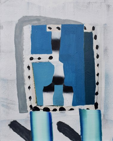 Winner of the Award: Reece King, Good Socks, 2020, acrylic/enamel on canvas, 1000 x 800 x 40 mm
