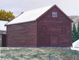 Dick Frizzell, Red Hall, 2004, oil on canvas, 50 x 65 cm